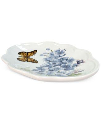Blue Floral Garden Soap Dish