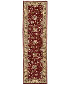 "Nourison Wool & Silk 2000 2203 Brick 2'3"" x 8' Runner Rug"