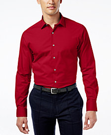 Alfani Regular Fit + Stretch Men's Dress Shirt, Created for Macy's