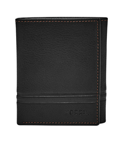 Fossil Men's Watts Leather Trifold Wallet