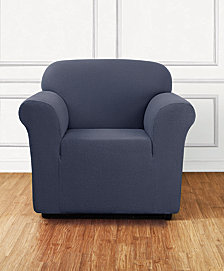 Sure Fit Stretch Delicate Leaf One-Piece Chair Slipcover
