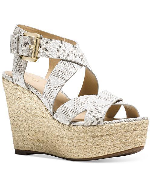 cb460b9906b Michael Kors Celia Mid Wedge Sandals   Reviews - Sandals   Flip ...
