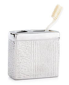 Croscill Roebling Stripe Toothbrush Holder