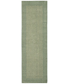 "kathy ireland Home Cottage Grove Coastal Village Mist 2'3"" x 7'6"" Runner Rug"