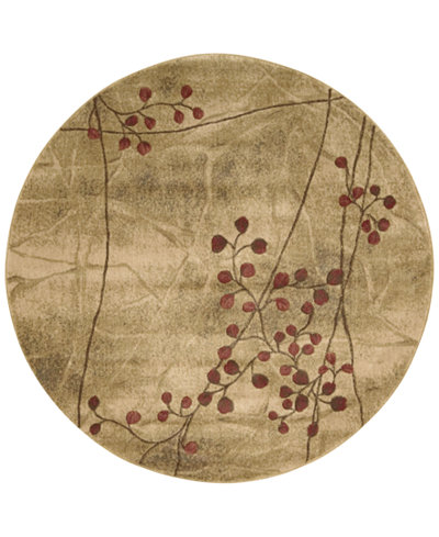 CLOSEOUT! Nourison Round Area Rug, Somerset Collection ST74 Latte Blossom 5'6