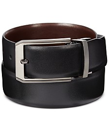 Perry Ellis Portfolio Men's Leather Mr. Pebble Reversible Belt