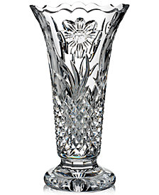 Waterford Master Craft Collection Flora & Fauna Magnolia Vase 12""