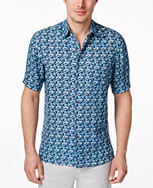 Tasso Elba Men's Silk Linen Short-Sleeve Shirt, Created for Macy's