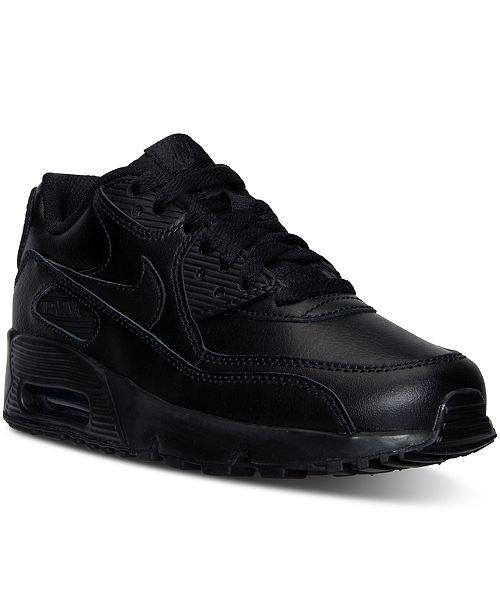 Nike Air Max 90 Leather (Kids) Kids Nike White Black
