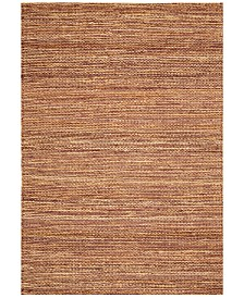 D Style Natural Jute Eggplant 8' x 10' Area Rug