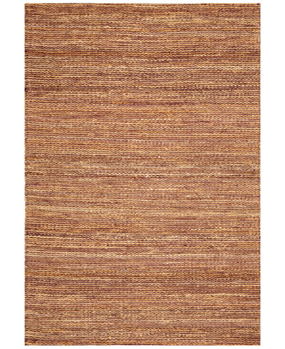 D Style Natural Jute Eggplant 9' x 13' Area Rug