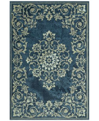 "CLOSEOUT! Menagerie MEN185 Denim 3'3"" x 5'1"" Area Rug"