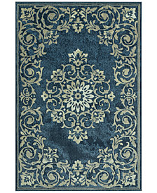 "CLOSEOUT! D Style Menagerie MEN185 Denim 8'2"" x 10' Area Rug"