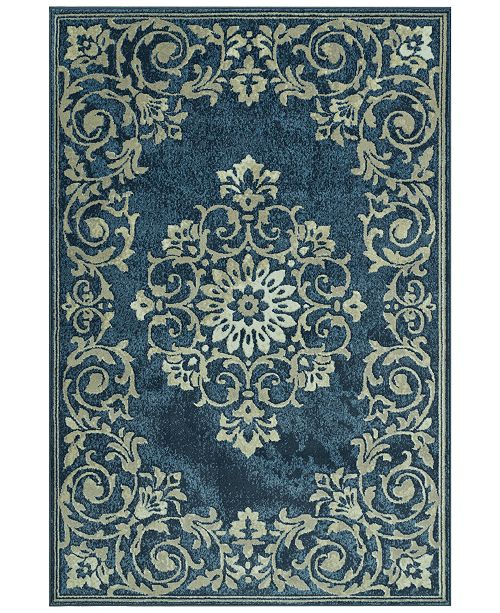 D Style CLOSEOUT! Menagerie MEN185 Denim Area Rugs