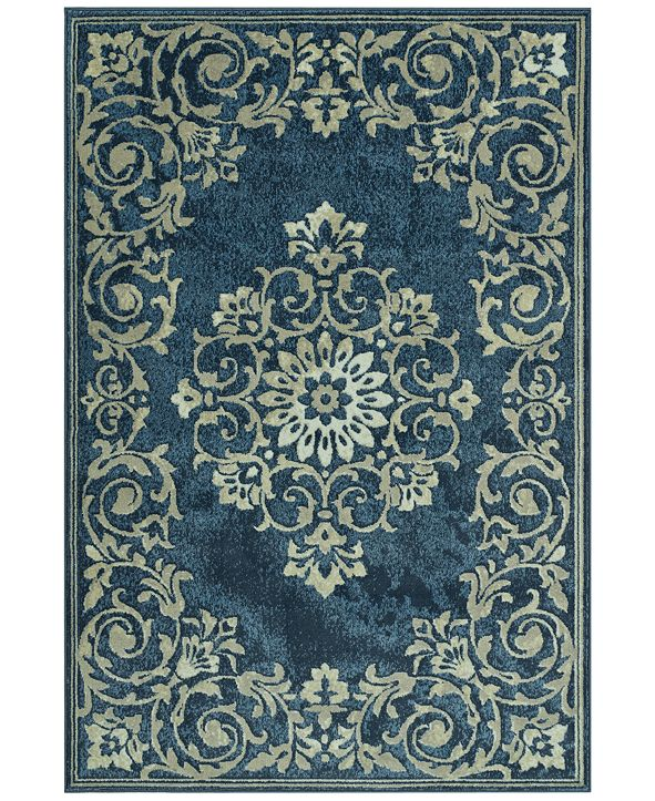"D Style CLOSEOUT! Menagerie MEN185 Denim 3'3"" x 5'1"" Area Rug"