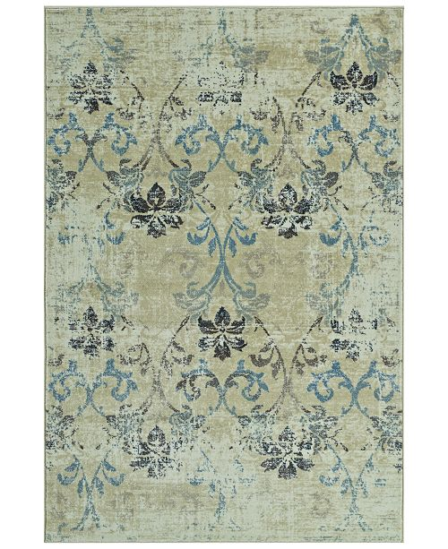 """D Style CLOSEOUT! Menagerie MEN1244 Ivory 3'3"""" x 5'1"""" Area Rug"""