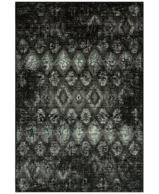 "CLOSEOUT! Menagerie MEN2162 Black 3'3"" x 5'1"" Area Rug"