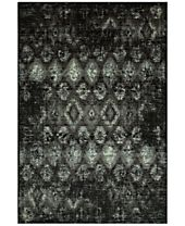 CLOSEOUT! D Style Menagerie MEN2162 Black Area Rugs