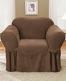 Sure Fit Soft Faux Suede Chair Slipcover