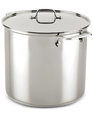 allclad stainless steel 16qt stockpot with lid