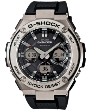 Men's Analog-Digital Black Strap Watch 59x52mm GSTS110-1A