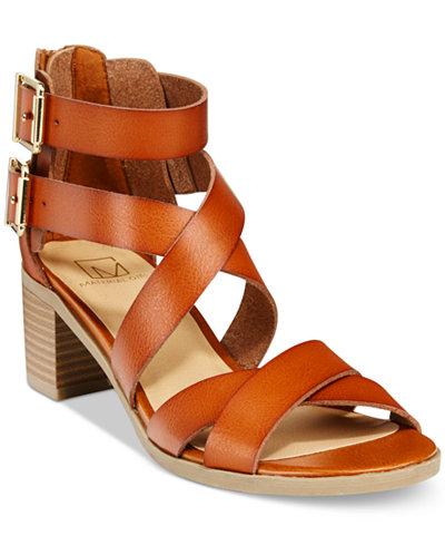 Material Girl Danee Block Heel City Sandals, Created for Macy's
