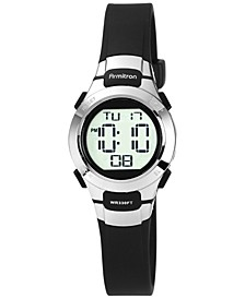 Women's Digital Black Strap Watch 27mm 45-7012BLK