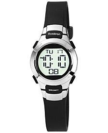 Armitron Women's Digital Black Strap Watch 27mm 45-7012BLK