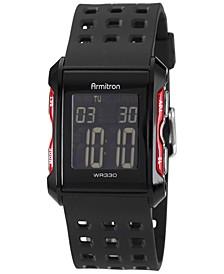 Men's Digital Chronograph Black Strap Watch 31mm 40-8177RED