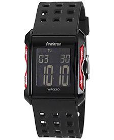 Armitron Men's Digital Chronograph Black Strap Watch 31mm 40-8177RED