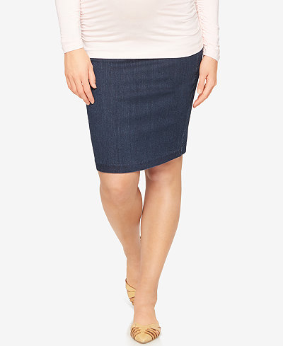 A Pea in the Pod Maternity Denim Pencil Skirt