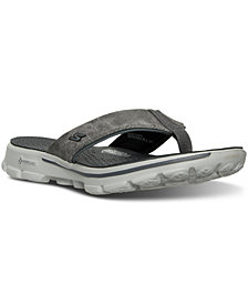 Skechers Men's GOwalk 3 - Stag Thong Athletic Sandals from Finish Line