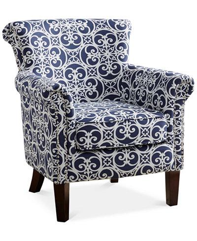 Sarah Tight Back Club Chair Quick Ship Furniture Macy S