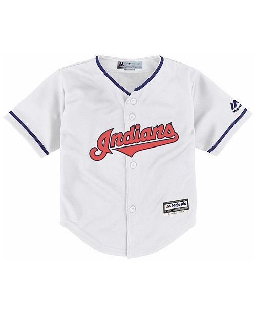 b145fc958 Majestic Toddlers' Cleveland Indians Replica Cool Base Jersey ...
