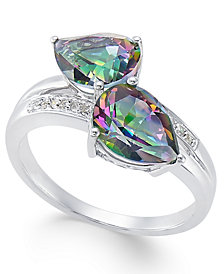 Mystic Fire Topaz (4 ct. t.w.) and Diamond Accent Ring in 14k White Gold