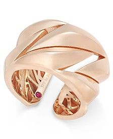 The Fifth Season by Roberto Coin 18k Rose Gold-Plated Sterling Silver Ring 7771137SX650