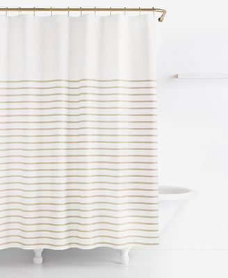 kate spade new york harbour stripe shower curtain - shower