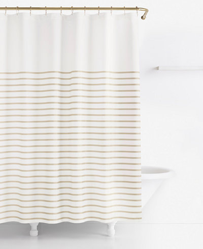 navy and gold shower curtain. kate spade new york Harbour Stripe Shower Curtain