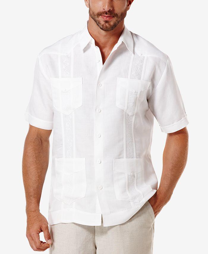 Cubavera - Shirt, Short-Sleeve Embroidered Guayabera Shirt