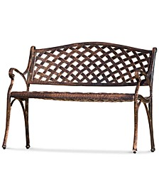 Elmann Antiqued Copper-Finish Bench