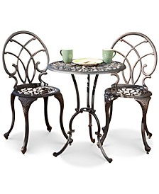 Dakara 3-Pc. Copper-Finish Aluminum Bistro Set