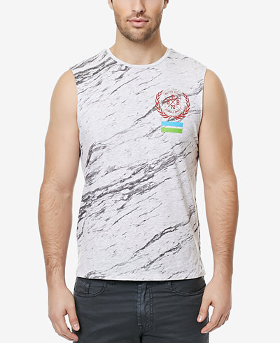 Buffalo david bitton men 39 s novisia graphic print for Sleeveless graphic t shirts