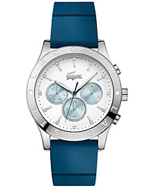 Lacoste Women's Charlotte Blue Silicone Strap Watch 40mm 2000942