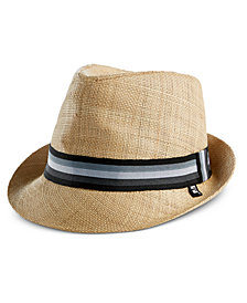 Block Hats Men's Woven Raffia Straw Fedora