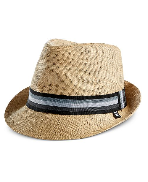 Block Hats Men s Woven Raffia Straw Fedora - Hats 912d0d8bb201