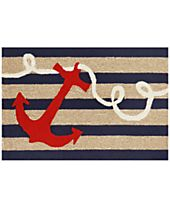 Liora Manne Front Porch Indoor/Outdoor Anchor Navy Area Rug