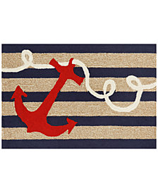 Liora Manne Front Porch Indoor/Outdoor Anchor Navy 2' x 3' Area Rug