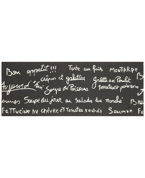 Liora Manne' Liora Manne Front Porch Indoor/Outdoor Bistro Slate 2'3'' x 6' Runner Area Rug