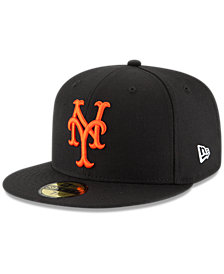 New Era New York Mets Banner Patch 59FIFTY Fitted Cap