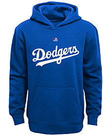 Majestic Kids' Los Angeles Dodgers Wordmark Fleece Hoodie, Big Boys (8-20)